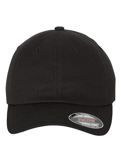 5dcb8cfa7 6745 FlexFit Cotton Twill Dad Hat with FlexFit Technology (Small / Medium,  Black)