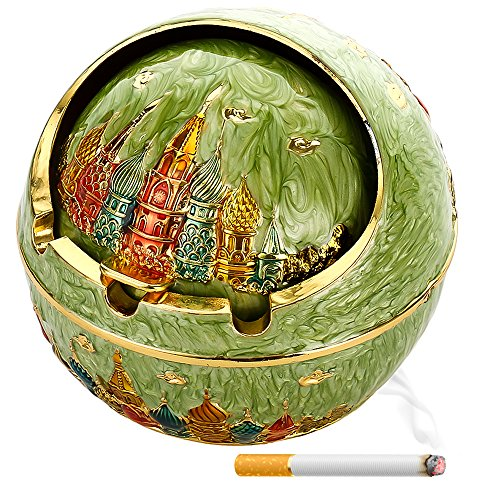 Eliminator Pipe (Ashtrays Portable Cigar Ashtray with Lid Ash Tray Smoke Odor Eliminator Cigarette Ashtray Smoke Eaters for Cigarette Smoke in Home Best Smokeless Ashtrays for Home Smokers,Castle &)