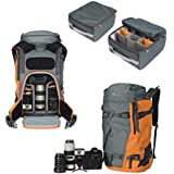 Lowepro Powder Extreme Adventure Powder Backpack 500 AW, Grey/Orange (LP37230-PWW)