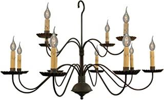 product image for Monticello Chandelier - Handcrafted in USA - Black