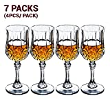 5.5 Ounce Crystal Wine Glasses 7 Packs (Total 28 Pieces)