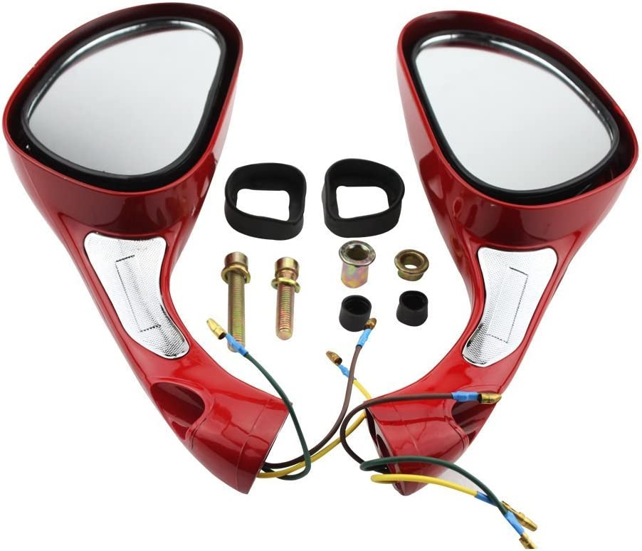 GOOFIT 8mm Rearview Mirrors Pair for GY6 50cc 60cc 80cc 125cc 150cc Scooter Moped Motorcycle