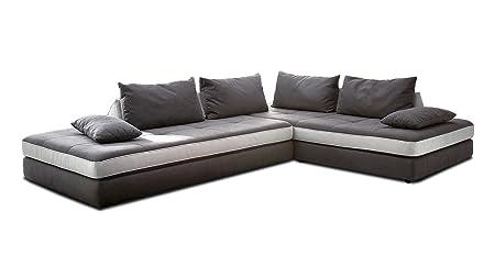 Eckcouch Dunkelgrau Ecksofa Sofa Couch Wohnlandschaft 320 X 240 Cm