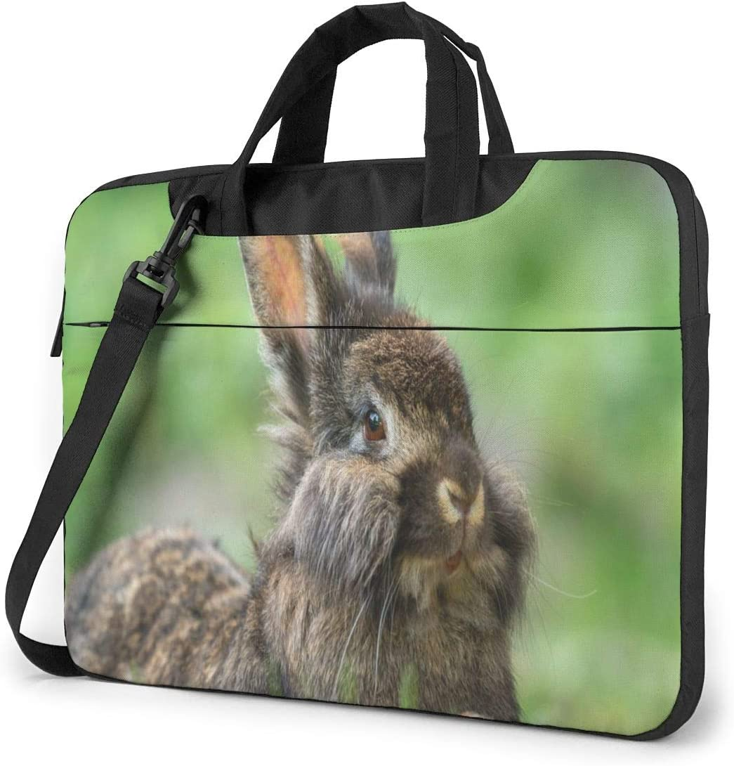 Cute Dwarf Rabbit Animal Laptop Case 14 Inch Carrying Case with Strap