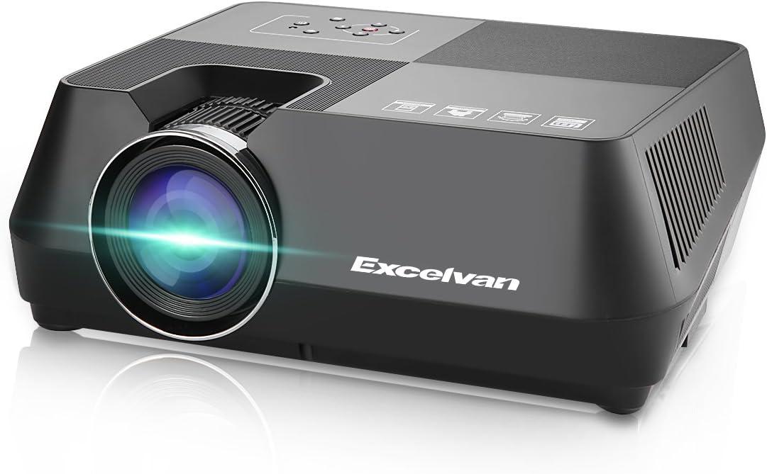 Excelvan Proyector, GT-S8 Proyector Portatil LCD 720p 1600 Lúmenes ...