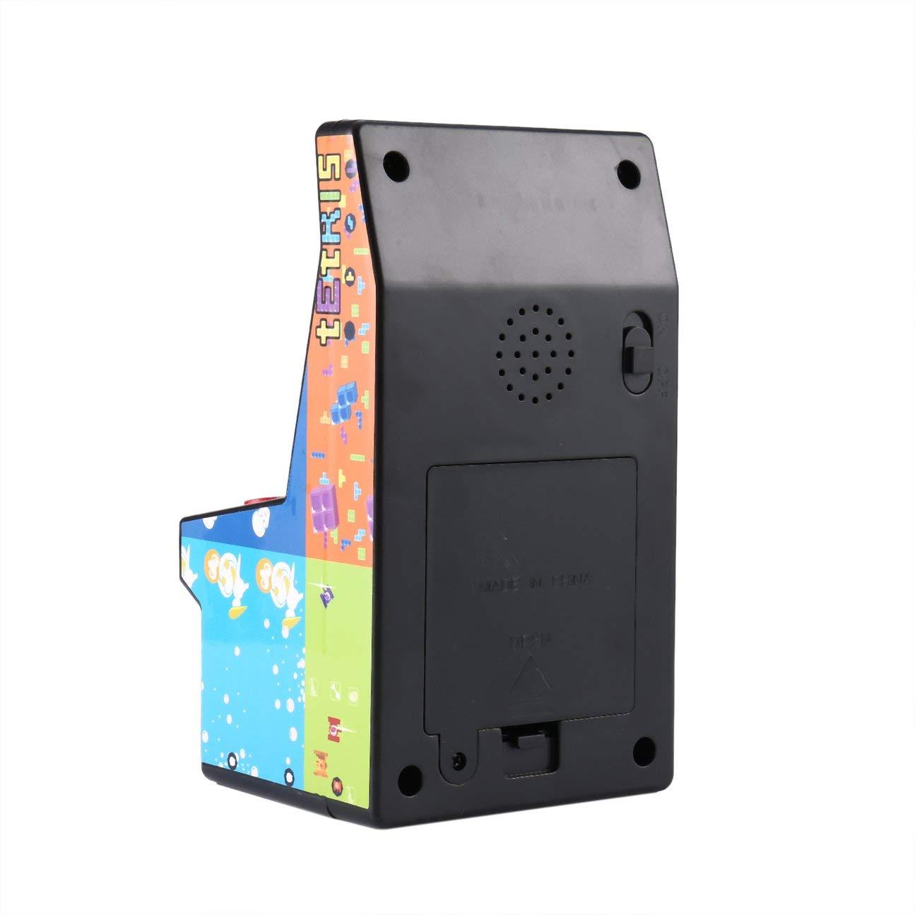 MachinYesell Cadeau pour Enfants Jouets éducatifs Mini Arcade Portable 8 Console de Jeu NDA Bascule Unique Multicolore