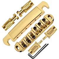 JD.Moon Roller Saddle Bridge ABR-1 Tune-o-matic Bridge Tailpiece Bridge For Les Paul Guitar (Gold)