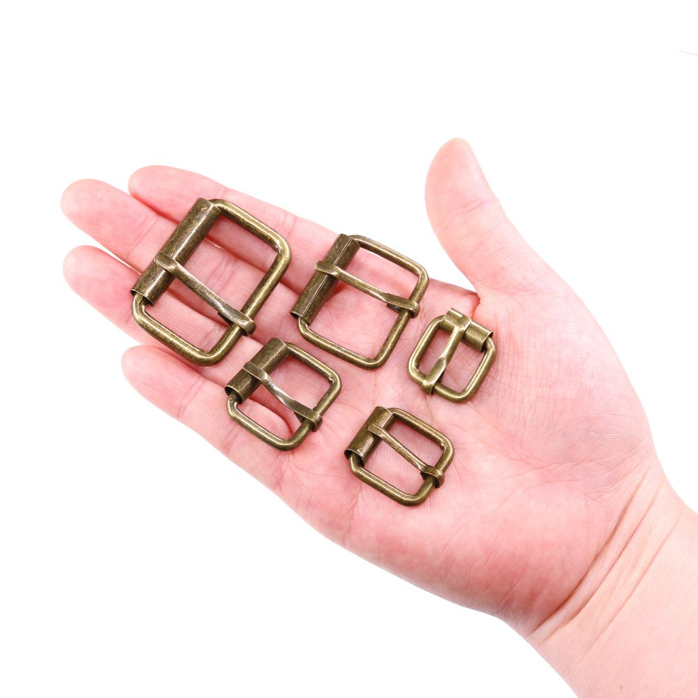 5//8 Inch 3//4 Inch 1 Inch 1//2 Inch 1-1//4 Inch ◕‿◕ Swpeet 50 Pcs Bronze Assorted Multi-Purpose Metal Roller Buckles for Belts Hardware Bags Ring Hand DIY Accessories