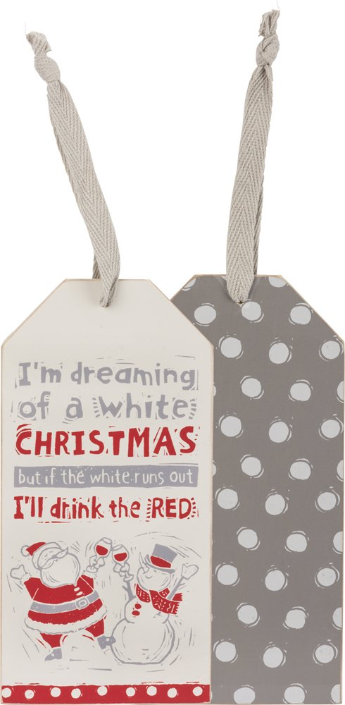 Bottle Tag - Drink The Red, Set of 3