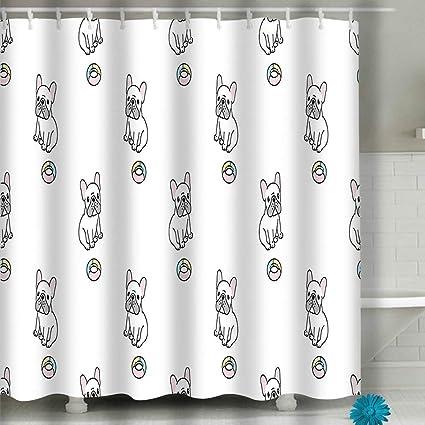 Amazoncom Zuyushang Shower Curtain Dog Seamless Pattern
