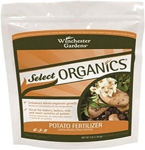 Winchester Gardens NPK 6-3-9 Select Organics Potato Granular Fertilizer, 3-Pound