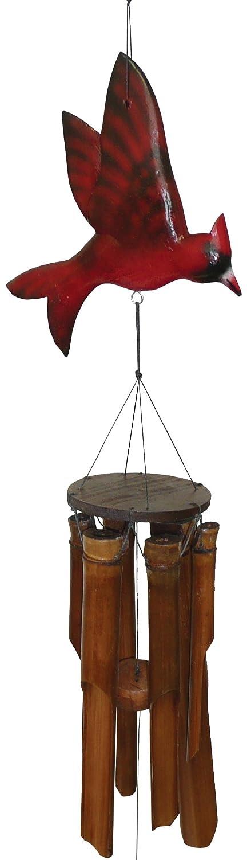 Cohasset 187C Glossy Finish Cardinal Bamboo Wind Chime