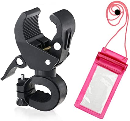 Bicycle Bike Clip Helmet Torch Mount Cycle Light Flashlight Holder Strap Clamp