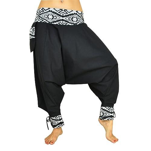 Pantalones cagados corte tradicional con decoración hermosa como ropa hippie y pantalones bombachos de virblatt S