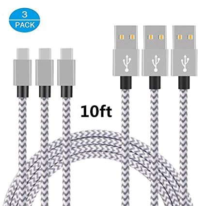 Amazon.com: Cable USB tipo C, thrrly nailon trenzado USB a a ...