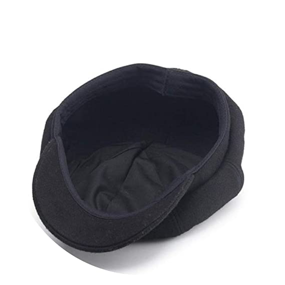 Newsboy Caps Beret Soft Wool Octagonal Hat Cr Felt Cap Gorras Vintage, Dark Gray at Amazon Womens Clothing store: