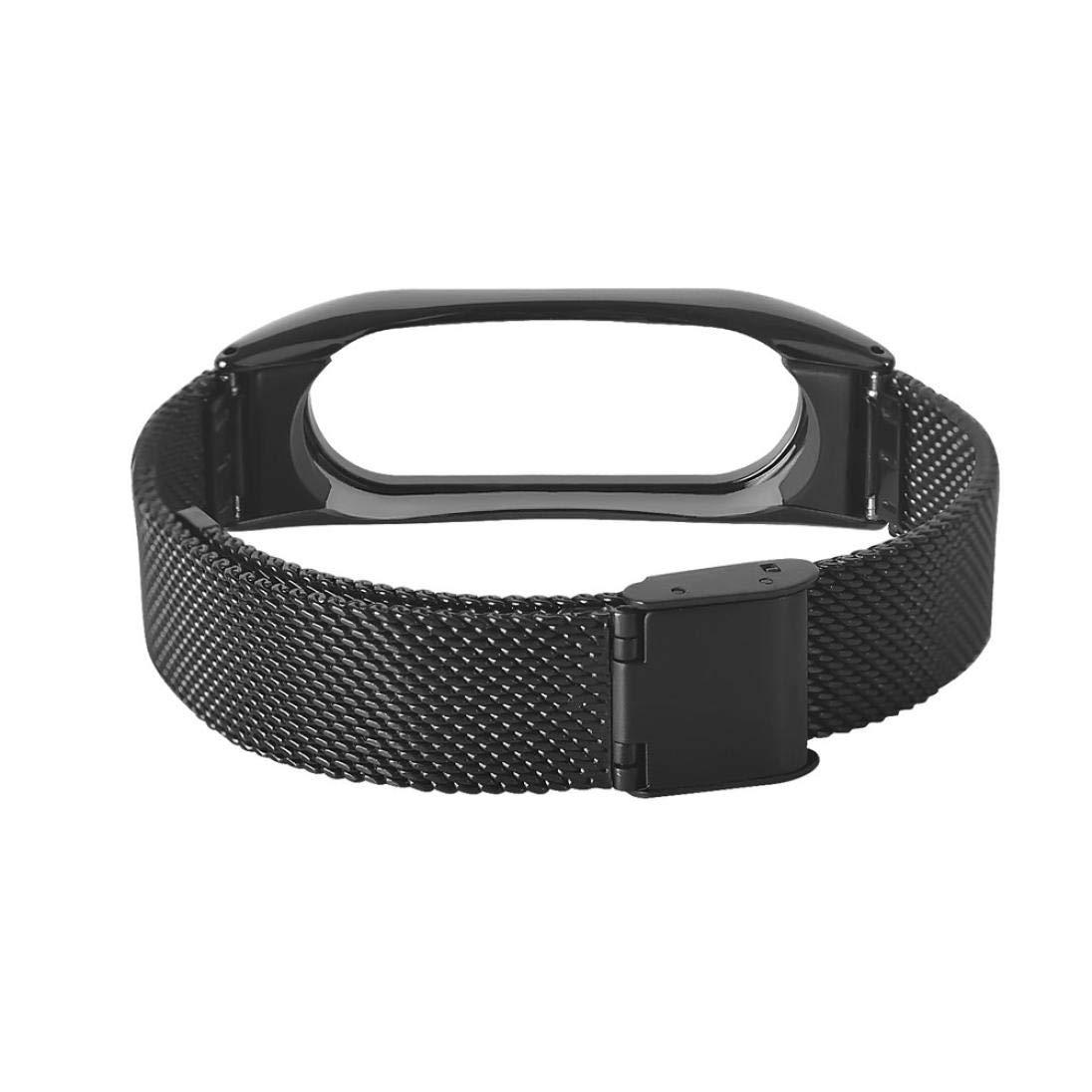 Correas xiaomi Band 2, ☀️Modaworld Pulsera Ligera de Acero Inoxidable de Moda Correa de Reloj Inteligente Correa de Repuesto para Xiaomi MI Band 2 ...