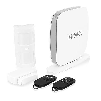 Eminent EM8615 Sistema de Alarma de Seguridad WiFi Blanco - Sistemas de Alarma de Seguridad (802.11b,802.11g,Wi-Fi 4 (802.11n), Android,iOS, Línea ...
