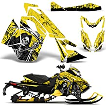 Ski Doo REV XS Renegade MXZ 2013+ Decal Graphic Wrap Kit Sled Snowmobile REAPER YELLOW