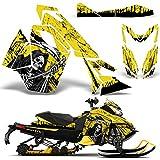 Ski Doo REV XS Renegade MXZ 2013+ Decal Graphic Wrap Kit Sled Snowmobile REAPER YELLOW