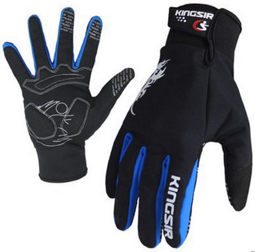 Panegy Gants de V/élo VTT Cyclisme en Hiver pour Homme Femme Comfortable Antid/érapant Respiration et Ecran Tactile Vert//Rouge//Bleu//Noir Taille S-2XL