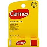 Carmex Classic Lip Balm, Lip Protectant Sunscreen SPF 15, 0.15 oz (Pack of 6)