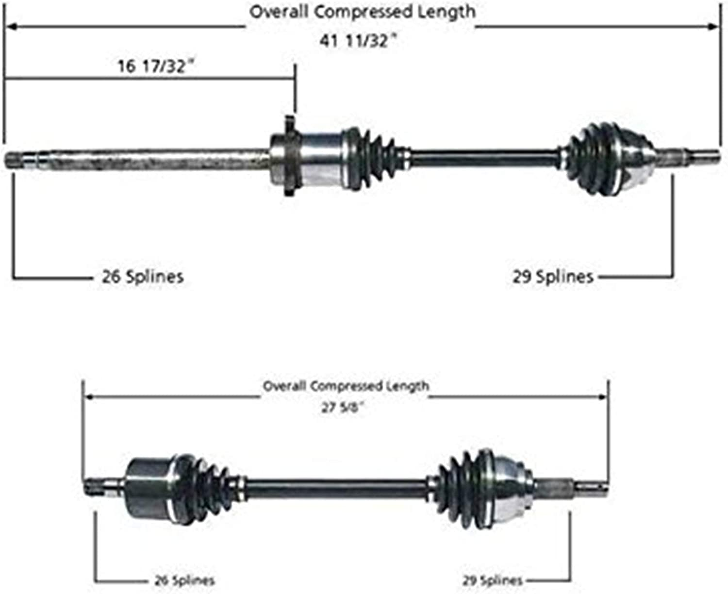Front Passenger Side Right Complete CV Axle Shaft For QUEST 2004-2009