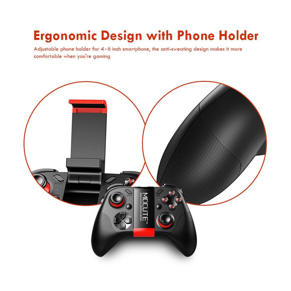 TV Box Tablet Mobile Smart Phone Samsung Gear VR OS Steam Games Bluetooth Wireless Video Game Controller Gamepad Gaming Joystick With Holder Remote Control for Android PC Laptop