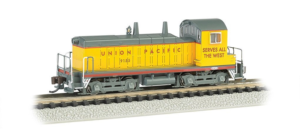 Bachmann Industries #9155 EMD NW-2 Switcher Locomotive DCC Equipped Union Pacific Train Car, N Scale