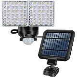 LED Solar-Powered Light, Outdoor Motion Sensor Flood Light, 1200lm, 5000K, Dual Adjustable Light Heads, Waterproof, Perfect for Front Door, Yard, Garage, Patio