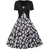 Sharemen Women's Printed Dress Top 2 Piece Set
