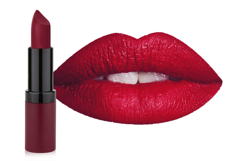 Amazoncom Golden Rose Velvet Matte Lipstick 25 Mexican Red Beauty