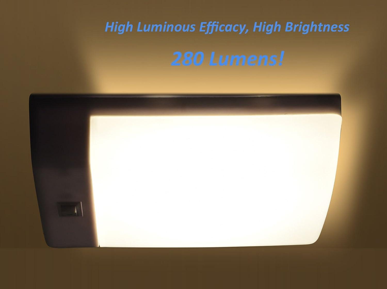 Plafoniere 12 Volt Per Camper : Facon 4w plafoniera led 12v luce auto interni con interruttore per