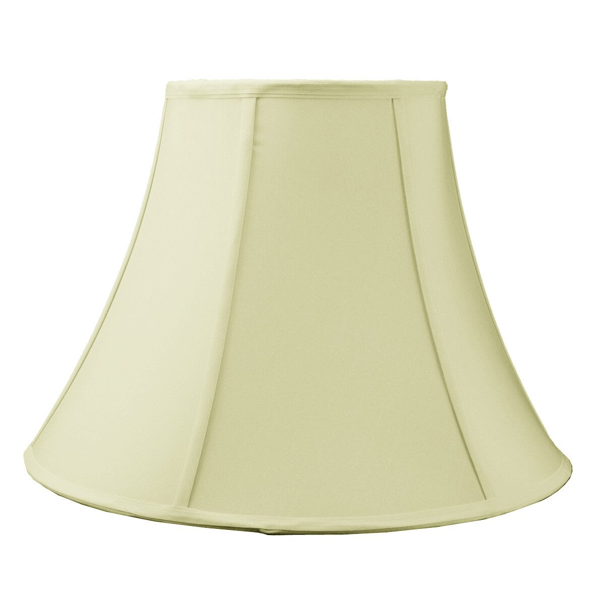 9x18x13.5 Egg Shell Shantung Bell Lampshade with Brass Spider fitter By Home Concept - Perfect for table and floor lamps - Large, Egg Shell