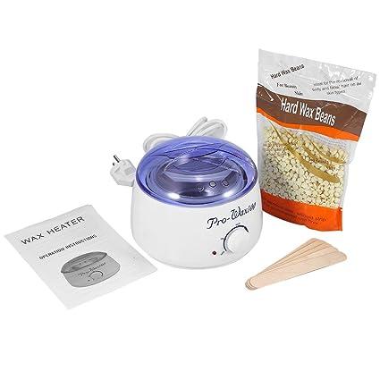 Calentador de cera Kit de Depilación con cera calentador de cera de 500 ml, calentador de ...