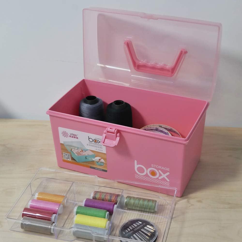 Neadas Small Plastic First Aid Emergency Storage Latch Box Bin Empty Pink 1 Pack