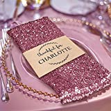 BalsaCircle 5 pcs 20-Inch Pink Sequins Napkins - for Wedding Party Restaurant Holiday Dinner