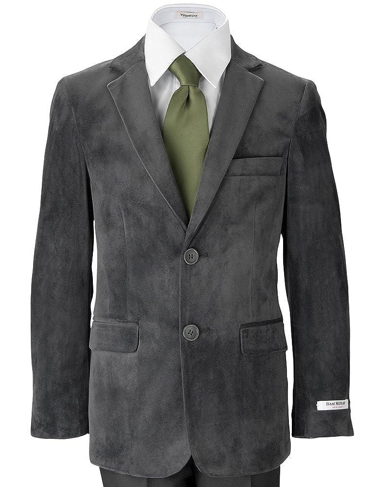 Isaac Mizrahi Boys' Single-Breasted Velvet Blazer Jacket for Holiday ETC. 147-$PL
