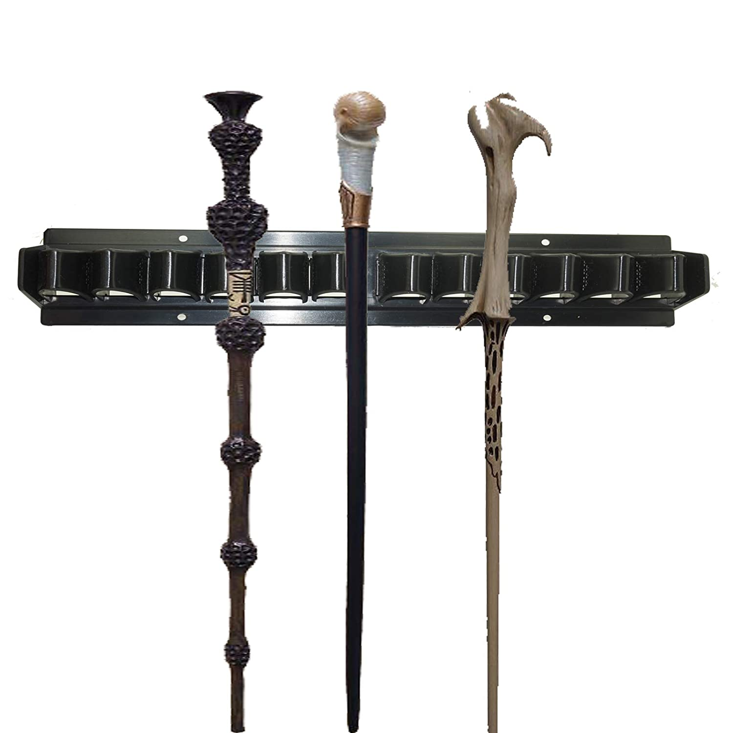 Holder Display Stand/Plastic Bracket Rack for 10 - Wand Harry Potter Dumbledore Hermoine Wand Collection Weasley Twins, Wand Stand Display, Wand Holder Decoration (No Wand)