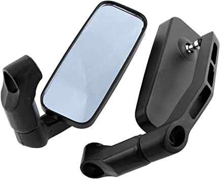 DLLL Blue Flexible Motorcycle Rear View Back Mirror Handle Bar End 7//8 Mirror Oval Fits Most Harley Davidsons,Suzuki,Honda,Kawasaki Cruisers,Touring Bikes,Sport Bike,Cafe Racers,Electric Scooters Side Rear View Mirrors Motorcycle,BMW Victory Indian