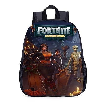 Fortnite Unisex Mochila Escolar Moda Backpack Rucksack de Viaje Mochilas Tipo Bolsas Satchel Daypack para Niño