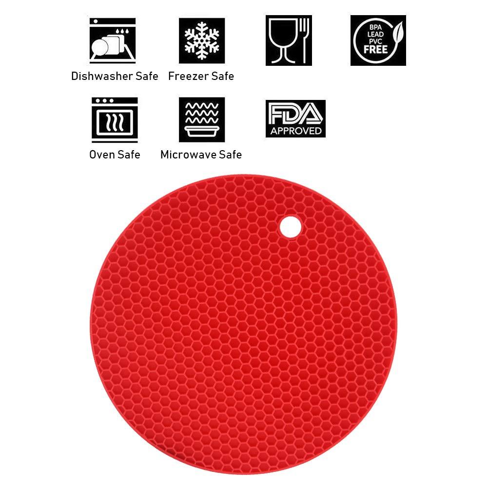 Wabenmuster Multicolor flintronic Topf Untersetzer 4pcs Silikon Topflappen Topfuntersetzer Sp/ülmaschinenfest Hitzebest/ändigerung Rutschfest und Hitzebest/ändig bis 250/°C