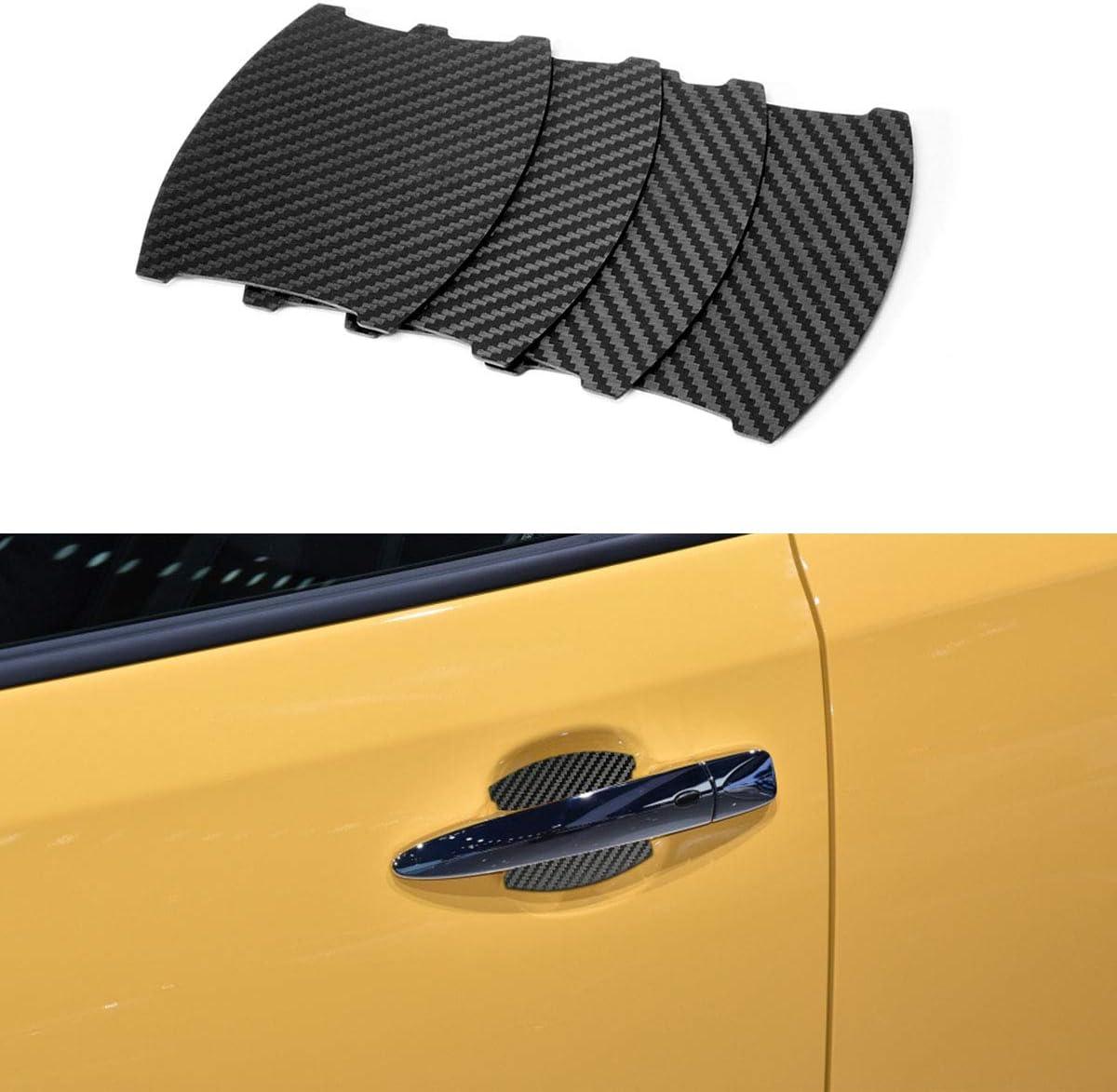 MLING 4pcs Voiture Poign/ée de Porte Insertion Magn/étique Couverture Anti Rayures Protecteur Compatible pour Leaf