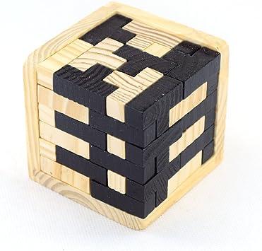 Joyeee® Cubo 3D Rompecabezas de Madera Juego Puzzle - #5: Amazon.es: Juguetes y juegos