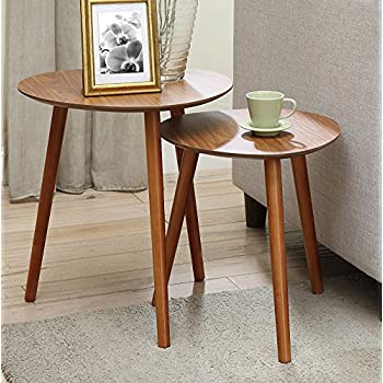 Convenience Concepts Oslo Nesting End Tables, Cherry