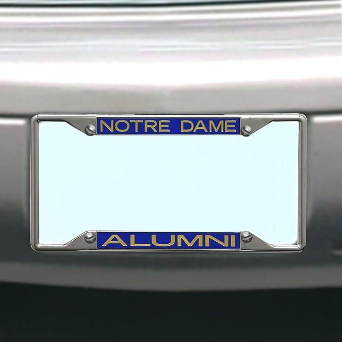 Frame Chrome Screw Covers Notre Dame Leprechaun License Plate