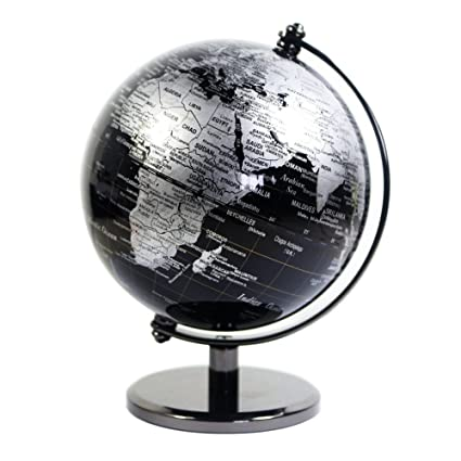 Buy vintage black world map globe antique decorative desktop globe vintage black world map globe antique decorative desktop globe rotating earth geography globe metal base gumiabroncs Gallery