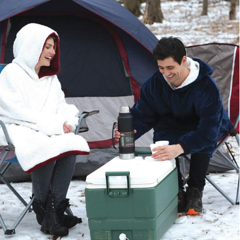 Home & Garden Blanket Sweatshirt Hoodie Ultra Plush Soft Warm Winter Hooded Coats Bathrobe