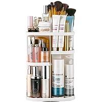 PUBAMALL Organizador de Maquillaje, 360 Grados de rotación de Gran Capacidad Ajustable, se Adapta a la joyería, Pinceles de Maquillaje, lápices labiales y más, lo Mejor para encimeras