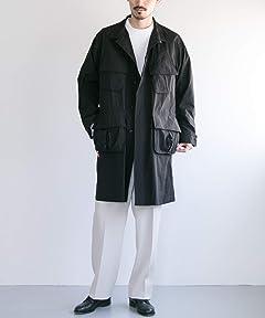 Freemans Sporting Club x The Nerdys Fatigue Coat FATIGUE-UF94: Black